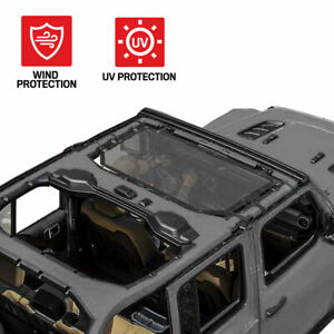 "Bikini Top Cover for Jeeps Motor Trend Full Top 69""x42.5"" Mesh Sunshade"
