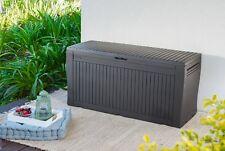 Keter Auflagenbox Comfy, 270 Liter Gartenbox Kissenbox Gartentruhe Kunststoffbox