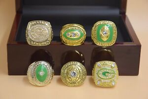 6PCS Green Bay Packers Championship Ring !