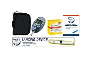 FreestyleLite Meter With Freestyle 100 Test Strips, Lancing device & Lancets