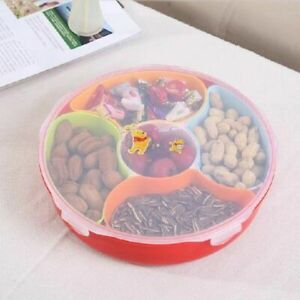 Creative Party Snacks Serving Tray Lid Snack Bowl Container Storing Dried Fruits