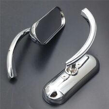 For Motorcycle Cruiser Chopper Bobber 8MM 10MM Custom Mini Oval mirrors