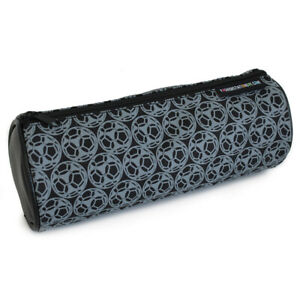 Fashion Stationery Barrel Sporty Black Pencil Case Pouch with Football Design