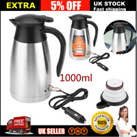 Electric Kettle 12V /24V 1L Car Van Lorry Travel Camping Heating Water Portable
