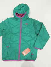 New tag Girls North Face Green Moondoggy Reversible 550 Hooded Down Jacket XL