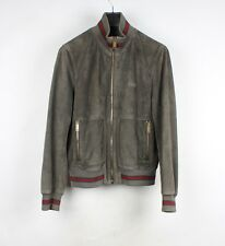 Gucci Suede Leather Bomber Jacket Size 50 M/L