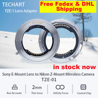 TECHART TZE-01 Auto-Focus For Sony FE Mount Lens Adapter To nikon Z6 Z7 Camera