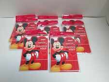 LOT OF HALLMARK MICKEY MOUSE VALENTINES DAY CARDS  - 9 PACKAGES   #225