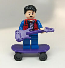 Custom Lego Print MARTY MCFLY from Back to the Future w/ guitar board minifigure