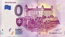 BILLET 0 EURO BRATISLAVA 2 SLOVAQUIE 2019  NUMERO DIVERS