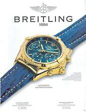 ▬► PUBLICITE ADVERTISING AD Montre Watch BREITLING 1992