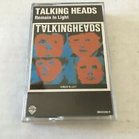 Vintage Talking Heads Remain In Light Cassette Tape 1980 Once in a Lifetime Sire