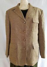 Lauren Ralph Lauren LRL Womens Blazer Sport Coat Suit sz 16 Large tan tweed