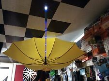 Yellow LED Umbrella With Torch And Blue Flash Or still Colour Changing Pole