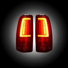 Recon Black/Smoke Fiber Optic LED Tail Lights  For 99 - 07 Sierra / Silverado