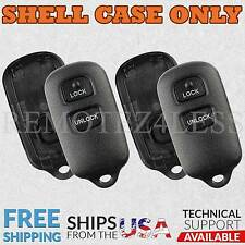 2 for Toyota Celica Highlander RAV4 Keyless Remote Car Key Fob Shell Case 2b