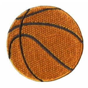 2 pcs BASKETBALL Embroidered Iron on Patches - BASKET BALL BB