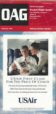 OAG Official Airline Guide North American pocket timetable 2/96 [0042]