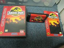 Sega Genesis Jurassic Park with Box Game