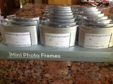 Silver Pearls - Mini - Photo Frames Wedding Favour | Place Card Holder