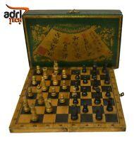 SCACCHI Scacchiera scatola scacchi da viaggio giapponese scacchi in legno