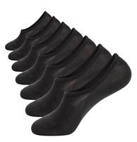 7 Pack No Show Socks Cotton Thin Non Slip Low Cut Men Invisible Boat Liner Socks
