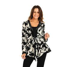 NEW PRINCESS CHARLOTTE BY CHARLIE BROWN Silk Velvet Black Floral Jacket - 10