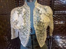 Antique Lace Shrug Intrigue Fabric Lace Silk Ribbon Appliqué