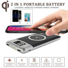 Qi Wireless Charging 10000mah Power Bank 2usb Battery Charger for Samsung S9 S8