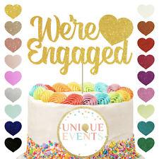 Se ocupaban Cake Topper, Wedding Cake Topper, fiesta de compromiso, corazón, Brillo