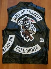 Sons of Anarchy Jacket - Vest Men's Motorcycle SOA - California President MC