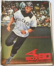 1980 Chicago White Sox vs. Red Sox Program Baines Hoyt Yaz