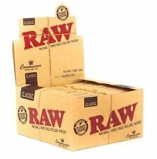 Full Box (24) Raw Classic Connoisseur King Size Rolling Papers With Tips