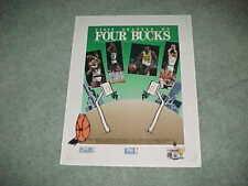 1987 Milwaukee Bucks NBA Basketball All Star Candidate Poster w/Sikma Moncrief
