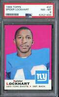 1969 TOPPS #37 SPIDER LOCKHART PSA 8 NY GIANTS  *K3547