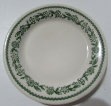 """Buffalo China Green Kenmore Floral Garland 5 1/2"""" Bread & Butter Plate Flowers"""