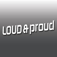 Loud & Proud Modified JDM Euro DUB Funny Car Window Bumper Vinyl Decal Stickers