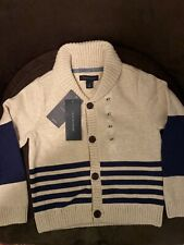 NWT Tommy Hilfiger Boys Size 4T Beige Button Up Sweater