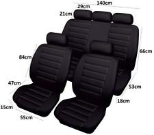 Quality Leather Look Racing Style Car Seat Covers Full Set Protectors Black