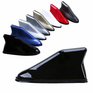 Car Shark Fin Antenna Roof Radio FM/AM Aerial Signal Cover Black/Gray/White/Red