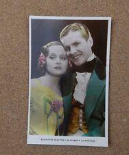 Eleanor Whitney & Robert Cummings Art Photo Real Photograph Postcard xc2