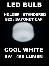 10 X Gorra Plana LED Bombilla GLS Bayoneta Blanco Frío 5 W B22 435 LM para el hogar, la oficina, la tienda