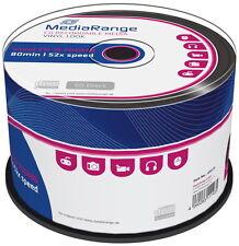 100 Mediarange Rohlinge CD-R vinyl black dye 80Min 700MB 52x Spindel