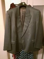 Mens Grey Pinstripe Double Breasted Suit 1940s Style Ww2 Retro
