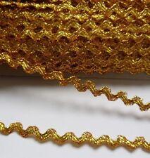 5MM Metallic Gold Ric Rac Trim / Tape / Ribbon-5 Yards-T838G