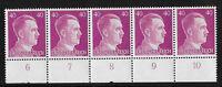 #6536    PF40  MNH stamp strip / Adolph Hitler / WWII Germany / Third Reich era