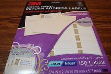 150 3M Fancy Special Event Designer Return Address Labels DIY Laser/Inkjet Gold