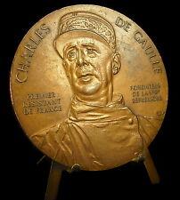 Médaille Général De Gaulle premier Résistant de France V ème République Medal
