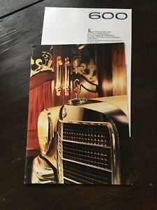 Prospekt Auto / Oldtimer Mercedes-Benz 600 - W100 - Der große Mercedes
