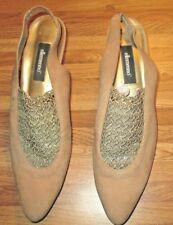 Shoes vintage Ellamenno lady's sling backs leather uppers size 9 1/2
